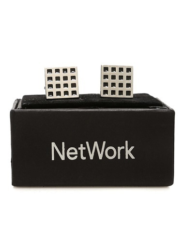 NetWork Kol Düğmesi Gümüş